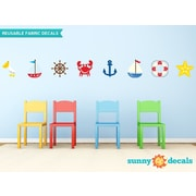 Sunny Decals 8 Piece Nautical Wall Decal Set
