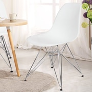AdecoTrading Dining Side Chair (Set of 2); White