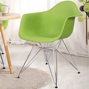 AdecoTrading Dining Arm Chair (Set of 2); Green