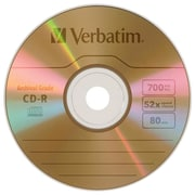 Verbatim ® UltraLife CD Recordable Media, 700MB, CD-R, 52x (96462)