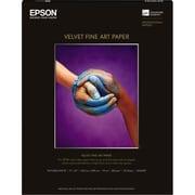 """Epson ® Velvet C Fine Art Paper, 22"""" x 17"""", Bright White, 25 Sheets/Pack (S042097)"""
