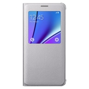 Samsung Flip Cover for Galaxy Note 5 S-View, Silver (EF-CN920PSEGUS)