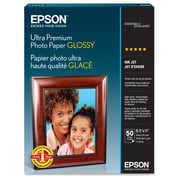 "Epson ® Ultra Premium Letter Glossy Photo Paper, 11"" x 8 1/2"", Bright White, 50 Sheets/Pack (S042175)"