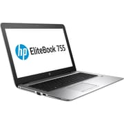 "HP ® EliteBook 755 G3 15.6"" Notebook PC, LCD, AMD A12-8800B Quad-Core, 256GB SSD, 8GB RAM, Windows 7 Pro, Silver"