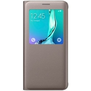 Samsung Folio Flip Cover for Galaxy S6 edge+ S-View, Gold (EF-CG928PFEGUS)