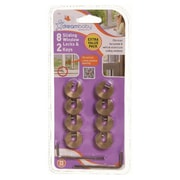 Dreambaby ® Brass Sliding Window Lock, Brown, 8/Pack (L710)