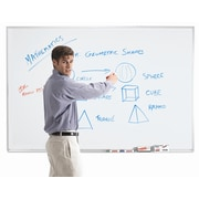 AARCO Magnetic Wall Mounted Whiteboard; 4' H x 6' L