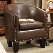 iNSTANT HOME Isabela Club Chair; 2 Tone Espresso