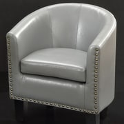 iNSTANT HOME Isabela Club Chair; Battle Gray