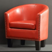 iNSTANT HOME Isabela Slim Fit Barrel Club Chair; Graceful Scarlet