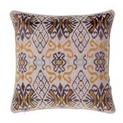 14 Karat Home Inc. Ikat Throw Pillow; Curry/Iron/Harbor