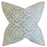 The Pillow Collection Indre Geometric Throw Pillow Cover; Sea Foam