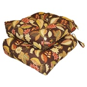 Greendale Home Fashions Outdoor Dining Chair Cushion (Set of 2); Timberland Floral