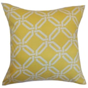 The Pillow Collection Ulei Geometric Throw Pillow Cover; Lemon Ice