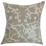 The Pillow Collection Paksane Floral Cotton Throw Pillow Cover