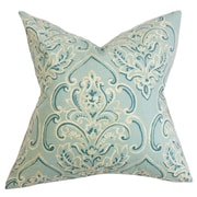 The Pillow Collection Yonah Floral Throw Pillow Cover; Baby Blue