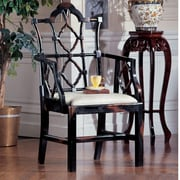 Design Toscano Chinese Chippendale Arm Chair (Set of 2)