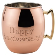 Old Dutch Moscow Mule 16 oz. ''Happy Anniversary!''  Mug (Set of 4)