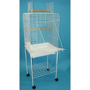 YML Open Play Top Small Parrot Bird Cage w/ Stand; White
