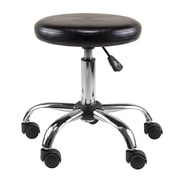 "Winsome Cushion Seat Swivel Stool, 22"", Black and Chrome (93720)"