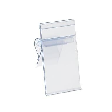Kostklip® ClearVision® Adjustable Angle Large Clip Label Holder, 4.25