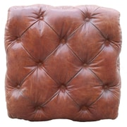 Pasargad Paris Club Genuine Leather Ottoman