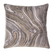 14 Karat Home Inc. Watercolor Marble Throw Pillow; Curry/Iron/Moss