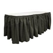 LA Linen Burlap Table Skirt; Hunter Green