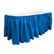 LA Linen Burlap Table Skirt; Royal Blue