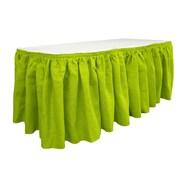 LA Linen Burlap Table Skirt; Lime