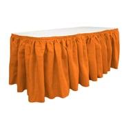 LA Linen Burlap Table Skirt; Orange