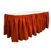 LA Linen Burlap Table Skirt; Red
