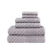 Enchante Home 6-Piece Diamond Turkish Cotton Towel Set; Sand