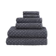 Enchante Home 6-Piece Diamond Turkish Cotton Towel Set; Anthracite