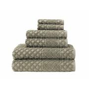 Enchante Home 6-Piece Diamond Turkish Cotton Towel Set; Olive