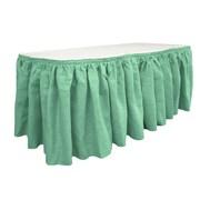 LA Linen Burlap Table Skirt; Mint