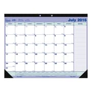 "Blueline® 2016/2017 Academic Monthly Desk Pad Calendar, 21-1/4"" x 16"", English"
