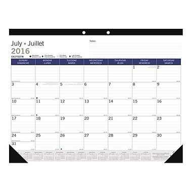 Blueline® 2016/2017 DuraGlobe™ Academic Monthly Desk Pad Calendar, 22