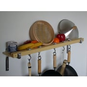 Taylor & Ng Track Rack Wall Pot Rack; Natural Bamboo