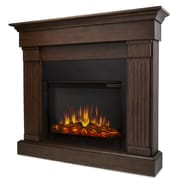 Real Flame Slim Crawford Wall Mount Electric Fireplace; Chestnut Oak