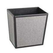 Kraftware Bath and Home 3.25-Gal Frieze Rectangular Waste Basket; Black/Grey