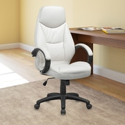 CorLiving Workspace High-Back Leather Executive Office Chair with Arms