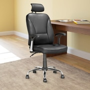 CorLiving Workspace High-Back Leather Executive Tilting Office Chair with Arms