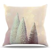 KESS InHouse Bottle Brush Trees Throw Pillow; 18'' H x 18'' W x 3'' D