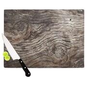 KESS InHouse Tree Bark Cutting Board; 11.5'' W x 8.25'' D