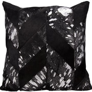 Nourison Kathy Ireland Throw Pillow; Black/Silver