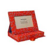 Arcadia Home Picture Frame Box with Journal; Orange/Blue Vines