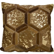 Nourison Michael Amini Throw Pillow; Amber/Gold