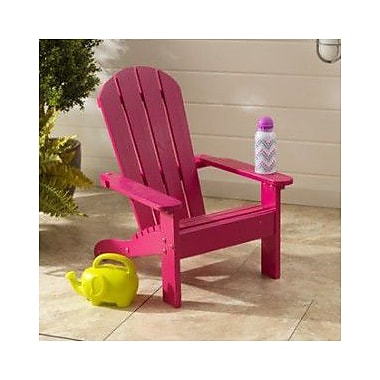 Kidkraft kids adirondack chair pink staples for Kids chair with name