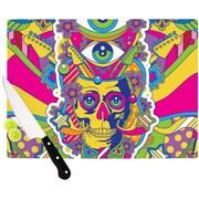 KESS InHouse Skull Cutting Board; 11.5'' W x 8.25'' D
